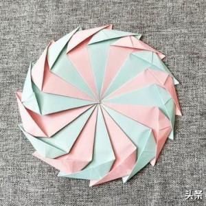 折纸转盘图解教程,教你抽奖折纸转盘怎么做
