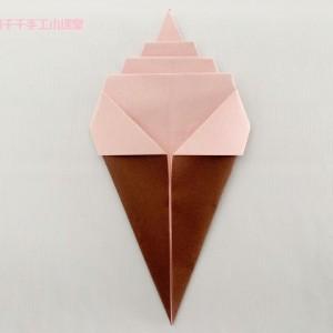冰淇淋的折纸步骤图解,简单实用纸冰淇淋做法