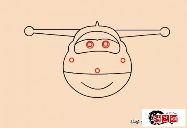 每天学一幅简笔画--超级飞侠乐迪简笔画