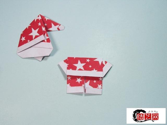 儿童手工折纸 圣诞老人折纸