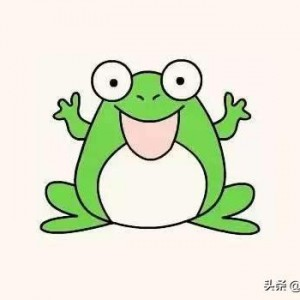 青蛙简笔画图解教程,简单漂亮可爱彩色儿童青蛙画法