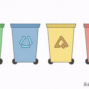 垃圾桶简笔画图解,可爱漂亮环保彩色分类垃圾箱画法教程
