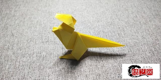 折纸教程:简单霸王龙折纸图解,学会了教小朋友不错呦