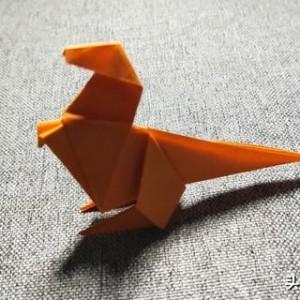 霸王龙折纸步骤图解,超简单的折纸教程方法