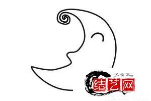 每天学一幅简笔画--可爱的月亮简笔画步骤画法
