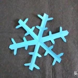 雪花剪纸步骤图解,简单的又漂亮白雪做法