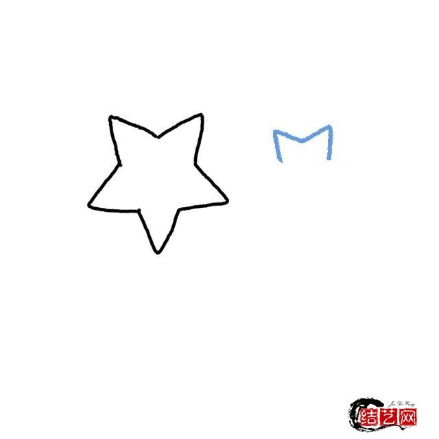 如何画星星简笔画