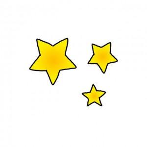 星星简笔画步骤图解,可爱彩色卡通版星星画法图片