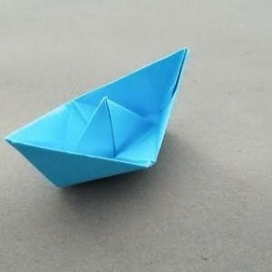 小船折纸教程步骤图片,怎么折简单纸船图解