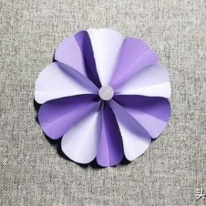 折纸小花朵教程,最简单方法小花纸做教程