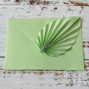 树叶信封折法步骤图解,简单又漂亮信封折法