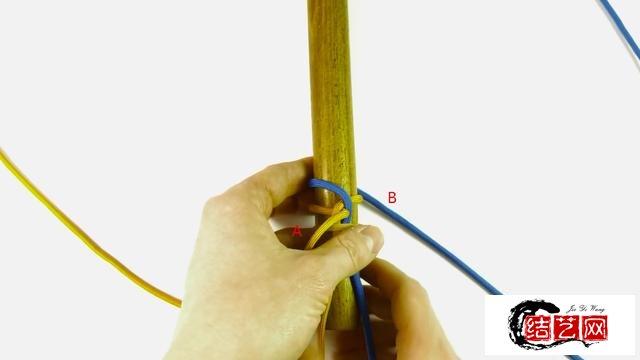 绳编-利用伞绳编刀把缠木把教程