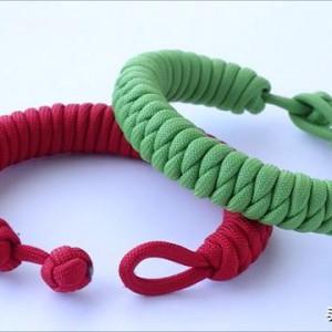 快拆求生手链编织方法,伞绳求生手链编法图解