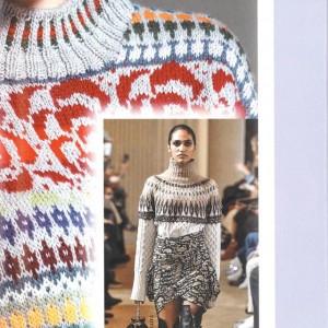 手工编织毛衣款式女花样,条纹提花刺绣款附教程图解