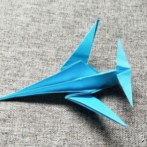 飞机折纸步骤图片图解,简单飞机模型折纸教程