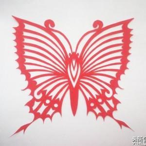 对折蝴蝶剪纸图案画法,简单对称蝴蝶剪纸步骤图解