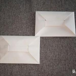 折纸信封折法步骤图片:简单又实用漂亮信封折纸方法