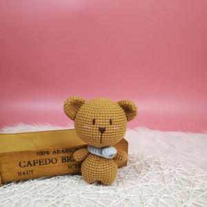 钩针玩偶图解教程,动物小熊玩偶钩针编织教程