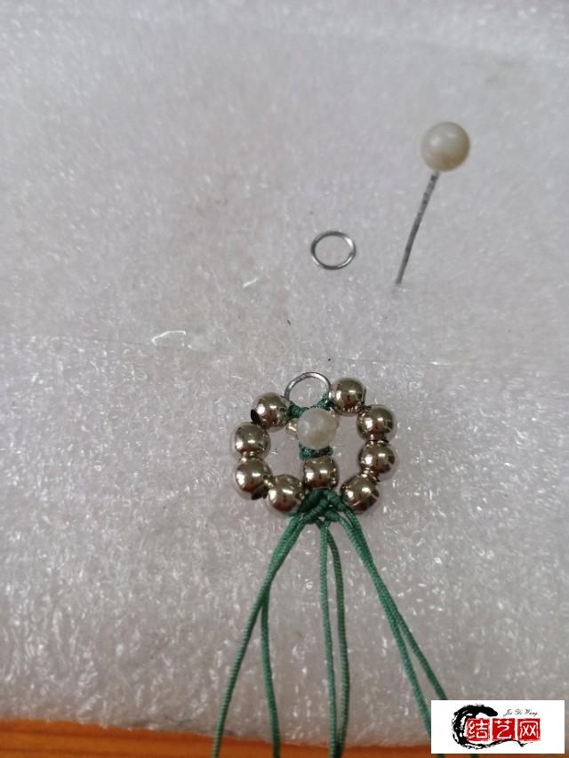 分享一款刚做的手工编织耳环