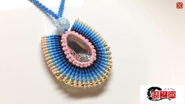 手工绳编制作漂亮的埃及水晶项链吊坠,简单易学,关键是有创意