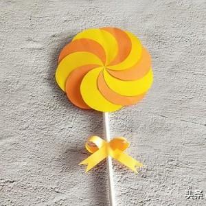 折纸棒棒糖的折法图解,卡纸棒棒糖制作方法图片