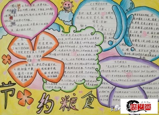 每天学一幅简笔画--小学生节约粮食手抄报
