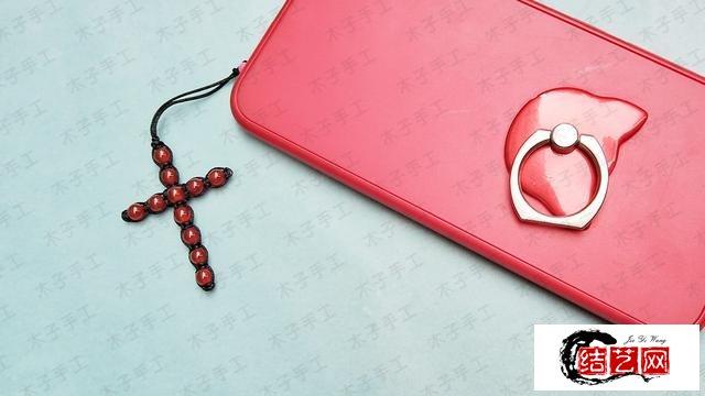简单大方的十字架情侣手机挂,送给ta正合适