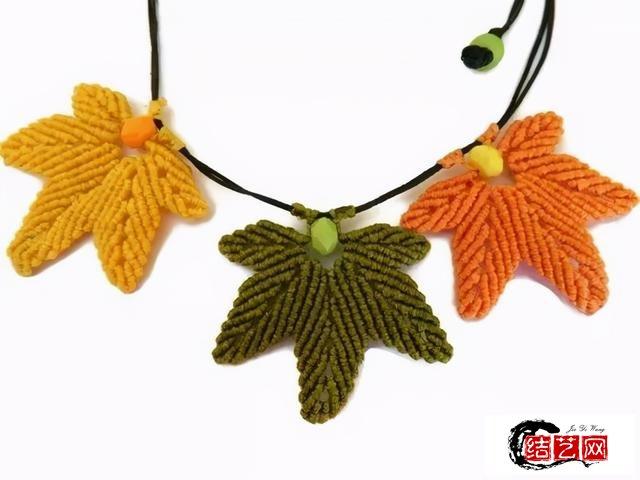 枫叶编制,制作挂坠、项链都很漂亮