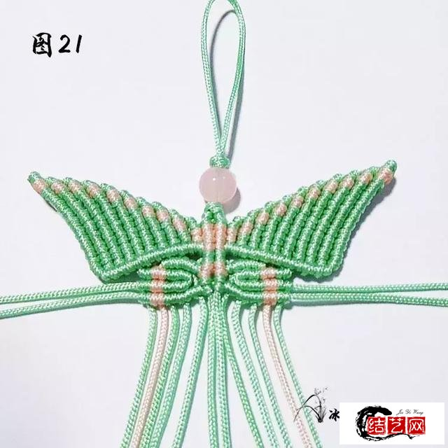 端午小长假,编织一个蝴蝶挂件来娱乐一下假期吧,让心情更美丽