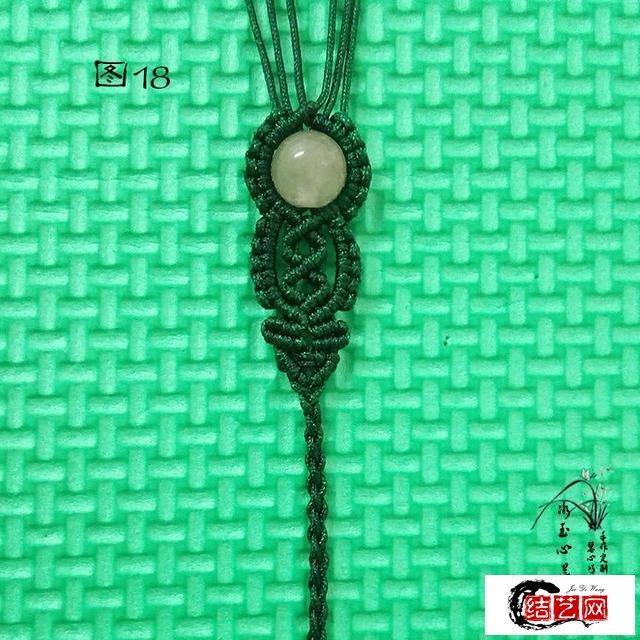 单珠手链编法