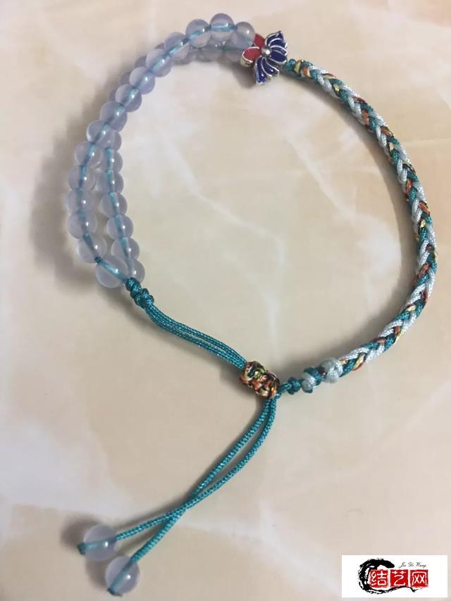蓝玉髓八股辫手绳