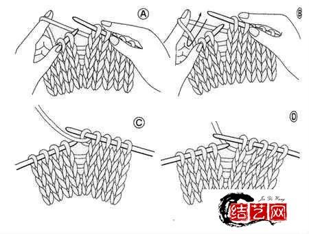 教你如何看棒针图解:棒针基本针法的记号及与编织方法基础教程