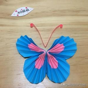 蝴蝶折纸步骤图解,简单又好看的儿童折纸制作方法