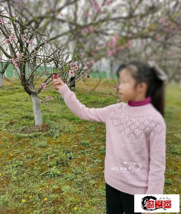 粉小铃兰:大童基础棒针打底套头衫 (有编织图解)