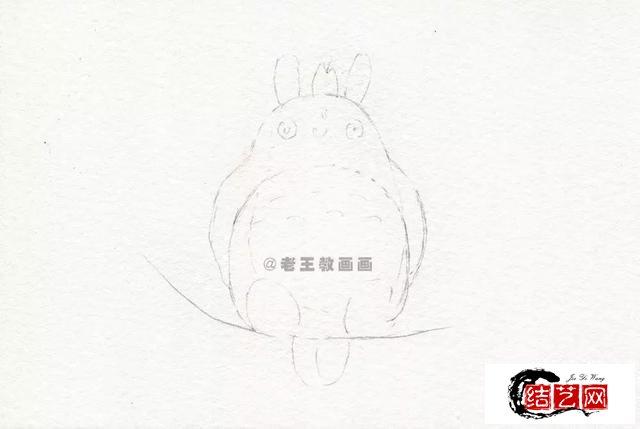 龙猫简笔画教程,教孩子画一画