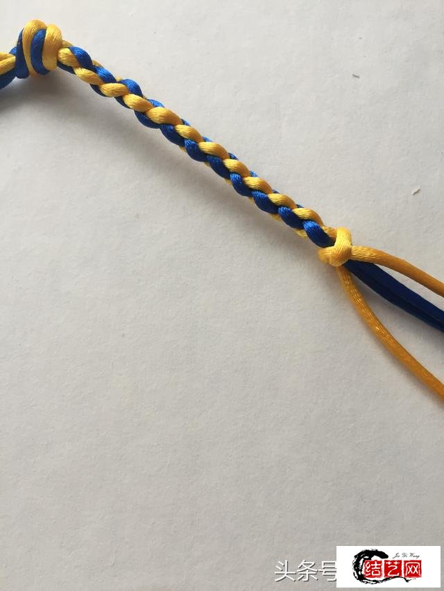 「编绳」常用基础结——四股辫图解