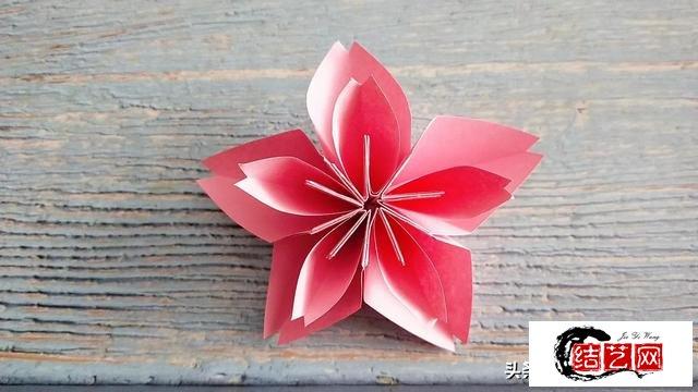 唯美樱花花球折纸教程,简单好看,快来试试