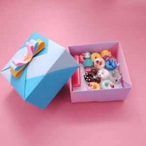 简单可爱小礼盒的折法,教你制作漂亮手工DIY的折纸收纳盒