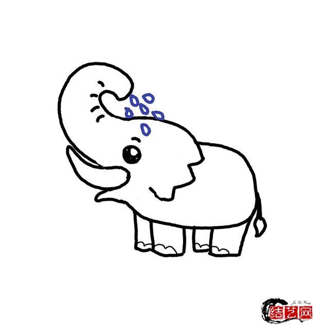 大象简笔画分步图文及视频教程,轻松变身绘画达人