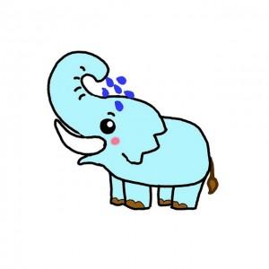 简单大象简笔画画法,儿童卡通版带颜色一步步教您画出完整的大象