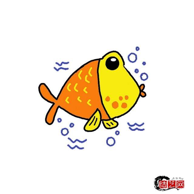 小鱼简笔画分步图文及视频教程,轻松变身绘画达人