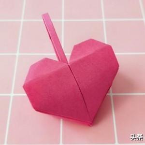 爱心包包折纸大全步骤图解,520情人心形折纸教程