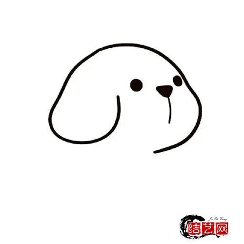 小狗怎么画一步一步教可爱小狗简笔画的画法步骤图解