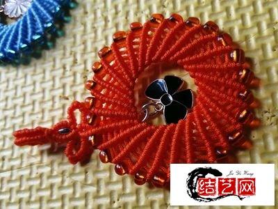 DIY中国结编织教程,好看的玉线编绳圆环挂件