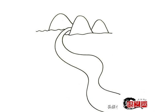 每天学一幅简笔画--怎么画长江