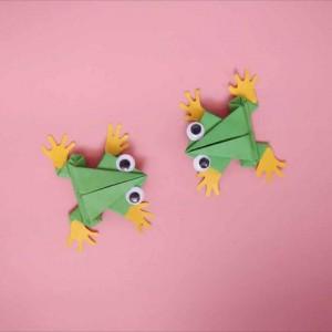 跳得远又简单青蛙折纸,教你如何制作青蛙折纸步骤图解