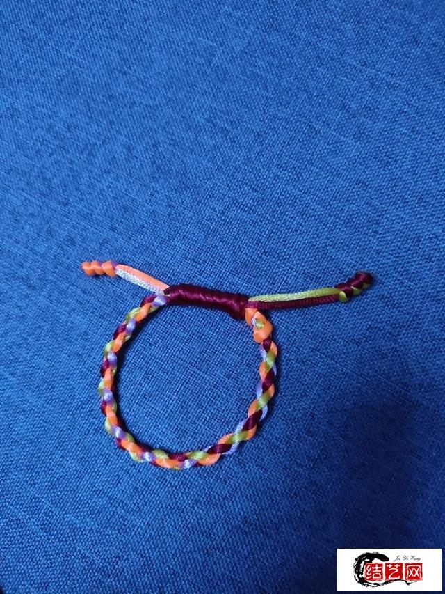 最简单手链的编法之一,端午节手绳编织教程