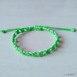 最简单编绳手链教程步骤,双钱结手链编织图文过程