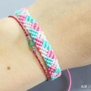 编绳手链教程:如何制作小清新手链手工编织教程