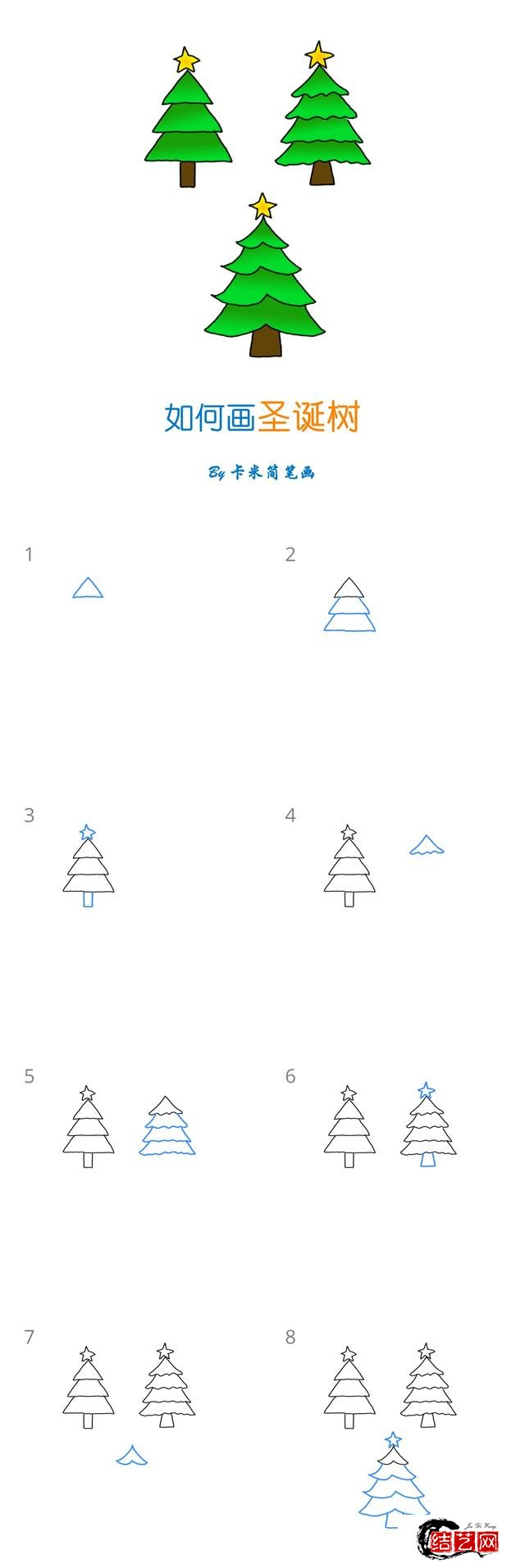 十组圣诞节简笔画教程